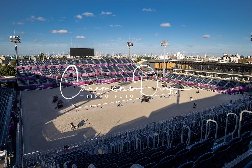 Overview Dressage arena<br /> Olympic Games Tokyo 2021<br /> © Hippo Foto - Dirk Caremans<br /> 18/07/2021