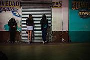 Prostitutes in the Tijuana streets, Mexico.<br /> Spanish: Prostitutas en las calles de Tijuana, Mexico.