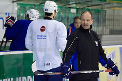 Assistant coach Dany Gelinas  at first practice of Slovenian National Ice hockey team before World championship of Division I - group B in Ljubljana, on April 5, 2010, in Hala Tivoli, Ljubljana, Slovenia.  (Photo by Vid Ponikvar / Sportida)