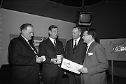 23/04/1965<br /> 04/23/1965<br /> 23 April 1965 <br /> Merville Dairy Conference at  Telefis Eireann studios at Donneybrook, Dublin. Sales conference for Merville distributers by Merville Cream Ices Ltd. (l-r): Mr. Denis O'Connor, (Limerick); Mr. Eric Craigie, Managing Director, Merville; Mr. A. Earl, (Waterford) and Mr. Thomas Joyce, (Cork).