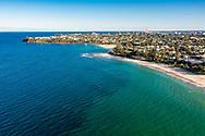 Aerial view of Dicky Beach, Sunshine Coast, Queensland, Australia
