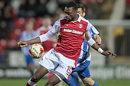 Semi Ajayi (Rotherham United) controls the ball during the EFL Sky Bet Championship match between Rotherham United and Brighton and Hove Albion at the AESSEAL New York Stadium, Rotherham, England on 7 March 2017. Photo by Mark P Doherty.