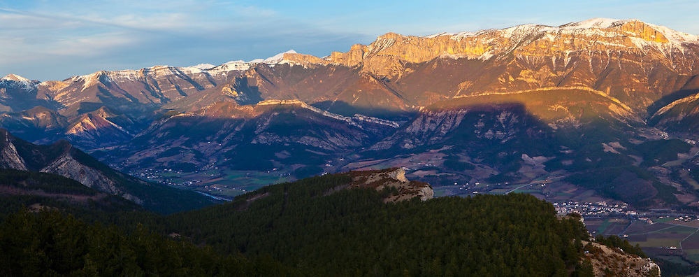 Le Glandasse, part of the Vercors Plateau, above the small city of Die, capital of the Diois, Drôme valley, France.