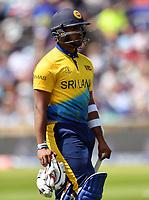 Cricket - 2019 ICC Cricket World Cup - Group Stage: England vs. Sri Lanka<br /> <br /> Sri Lanka's Avishka Fernando dejected as he is dismissed for 49 off England's Mark Wood, at Headingley, Leeds<br /> <br /> COLORSPORT/ASHLEY WESTERN