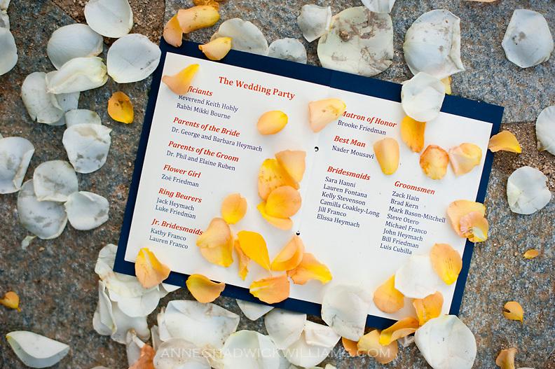 A wedding invitation at Plumb Jack, Squaw Valley, Tahoe, California.