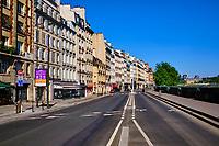 France, Paris (75), quai des Grands Augustins durant le confinement du Covid 19 // France, Paris, the quai des Grands Augustins during the lockdown of Covid 19