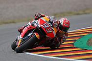 Knee down #93 Marc Marquez, Spanish: Repsol Honda Team during the HJC Helmets Motorrad Grand Prix Deutschland at Hohenstein-Ernstthal, Chemnitz, Saxony, Germany on 5 July 2019.