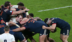 04 February 2017 Twickenham : Six Nations Rugby England v France :<br /> Joe Launchbury of England in the middle of a maul.<br /> Photo: Mark Leech
