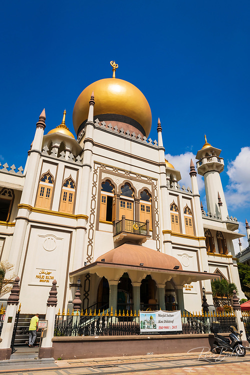 Masjid Sultan mosque on Arab Street in the Malay Heritage District, Singapore, Republic of Singapore