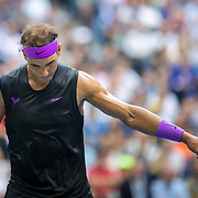 2019 US Open Tennis Tournament- Day Fourteen.   Rafael Nadal of Spain during his match against Danill Medvedev of Russia in the Men's Singles Final on Arthur Ashe Stadium during the 2019 US Open Tennis Tournament at the USTA Billie Jean King National Tennis Center on September 8th, 2019 in Flushing, Queens, New York City.  (Photo by Tim Clayton/Corbis via Getty Images)