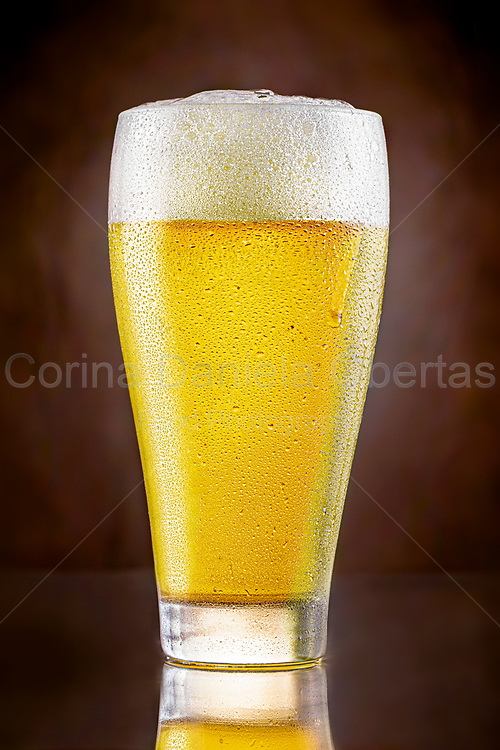 Glass with fresh cold beer.<br /> EXCLUSIVE ONLY ON THIS SITE!