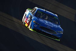 September 14, 2018 - Las Vegas, Nevada, United States of America - Ryan Blaney (12) brings his car through the turns during qualifying for the South Point 400 at Las Vegas Motor Speedway in Las Vegas, Nevada. (Credit Image: © Chris Owens Asp Inc/ASP via ZUMA Wire)