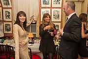 ANNABELLE NEILSON; JEMIMA KHAN, JOHNNIE SHAND KYDD, Charles Finch and  Jay Jopling host dinner in celebration of Frieze Art Fair at the Birley Group's Harry's Bar. London. 10 October 2012.