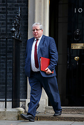 © licensed to London News Pictures. London, UK 18/03/2015. Transport Secretary Patrick McLoughlin attending to a cabinet meeting in Downing Street on the Budget Day, Wednesday, 18 March 2015. Photo credit: Tolga Akmen/LNP