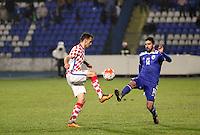 Osijek,23.03.2015. The stadium Municipal Garden played a friendly football match, Croatia - Israel. On picture Milan Badelj, Muanes Dabbur<br /> Foto Mario CUZIC/Zagreb news agency