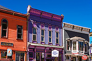 Historic downtown buildings, Silverton, Colorado USA