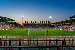 WREXHAM, WALES - Thursday, September 17, 2020: A general view during the UEFA Europa League Second Qualifying Round match between Connah's Quay Nomads FC and FC Dinamo Tbilisi at the Racecourse Ground. Dinamo Tiblisi won 1-0. (Pic by David Rawcliffe/Propaganda)