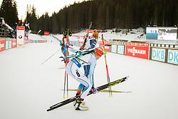 Winner Kaisa Makarainen (FIN) at the finish lineduring Women 12.5 km Mass Start at day 4 of IBU Biathlon World Cup 2015/16 Pokljuka, on December 20, 2015 in Rudno polje, Pokljuka, Slovenia. Photo by Ziga Zupan / Sportida