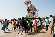 India, Tamil Nadu, Mahabalipuram Holi ka dahan the celebration of the death of Holika