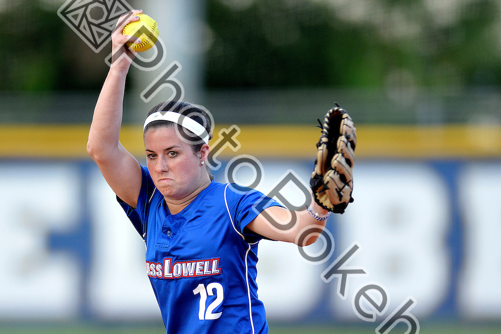 2015 March 17 - UMass Lowell's Courtney Lanfranchi (12). Florida International University defeated UMass Lowell, 9-1, in 6 innings at Felsberg Field, Miami, Florida. (Photo by: Alex J. Hernandez / photobokeh.com) This image is copyright by PhotoBokeh.com and may not be reproduced or retransmitted without express written consent of PhotoBokeh.com. ©2015 PhotoBokeh.com - All Rights Reserved