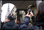 17 marzo 2011. Torino festeggia i 150 anni dell'Italia per le strade e piazze.