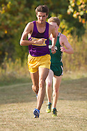 Warwick, New York - Warwick hosts a high school cross country meet with Cornwall, Pine Bush and Washingtonville at Sanfordville Elementary School on Sept. 30, 2014. D.J. Peterson of Warwick won the boys' race.