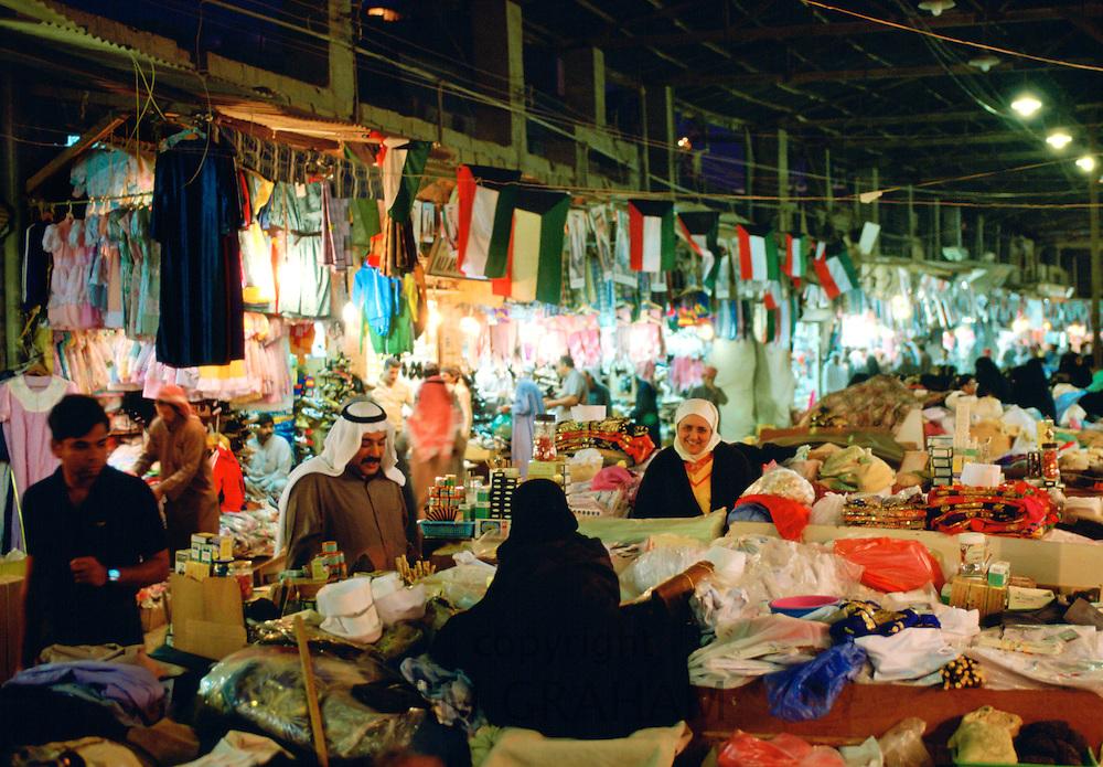 People shopping in the Souk, Kuwait City, Kuwait.