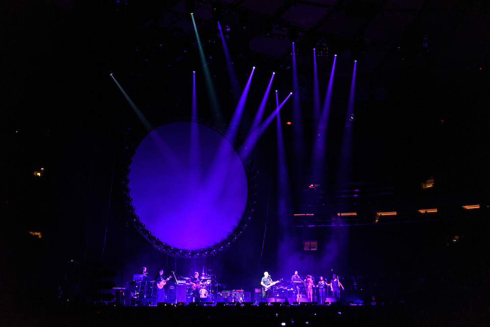 """Photos of David Gilmour performing live on the """"Rattle That Lock"""" World Tour 2016 at Madison Square Garden, NYC on April 12, 2016. © Matthew Eisman/ Getty Images. All Rights Reserved"""