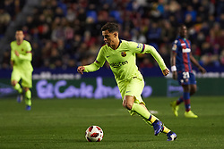 January 10, 2019 - Valencia, Valencia, Spain - Philippe Coutinho of FC Barcelona during the Spanish Copa del Rey match between Levante and Barcelona at Ciutat de Valencia Stadium on Jenuary 10, 2019 in Valencia, Spain. (Credit Image: © AFP7 via ZUMA Wire)