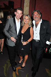 Left to right, NICK CANDY, LADY TINA GREEN and ROBERT TCHENGUIZ at the 39th birthday party for Nick Candy in association with Ciroc Vodka held at 5 Cavindish Square, London on 21st Januatu 2012.