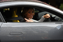 Spice Girls Geri Horner drives away after appearing on Heart Breakfast, at Global Radio studios in Leicester Square, London.