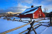 Red Barn in Bozeman Montana.