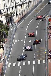 May 28, 2017 - Monte Carlo, Monaco - Motorsports: FIA Formula One World Championship 2017, Grand Prix of Monaco, .#5 Sebastian Vettel (GER, Scuderia Ferrari), #7 Kimi Raikkonen (FIN, Scuderia Ferrari), #3 Daniel Ricciardo (AUS, Red Bull Racing), #31 Esteban Ocon (FRA, Sahara Force India F1 Team), #77 Valtteri Bottas (FIN, Mercedes AMG Petronas F1 Team) (Credit Image: © Hoch Zwei via ZUMA Wire)