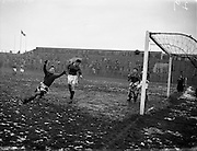 20/02/1957<br /> 02/20/1957<br /> 20 February 1957 <br /> Soccer: Limerick v Bohemians in the F.A.I. Cup replay at Dalymount Park, Dublin.