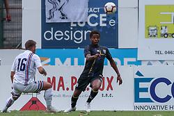 July 28, 2018 - Trento, TN, Italy - Yeves Baraye during the Pre-Season friendly between Sampdoria and Parma, in Trento on July 28, 2018, Italy  (Credit Image: © Emmanuele Ciancaglini/NurPhoto via ZUMA Press)