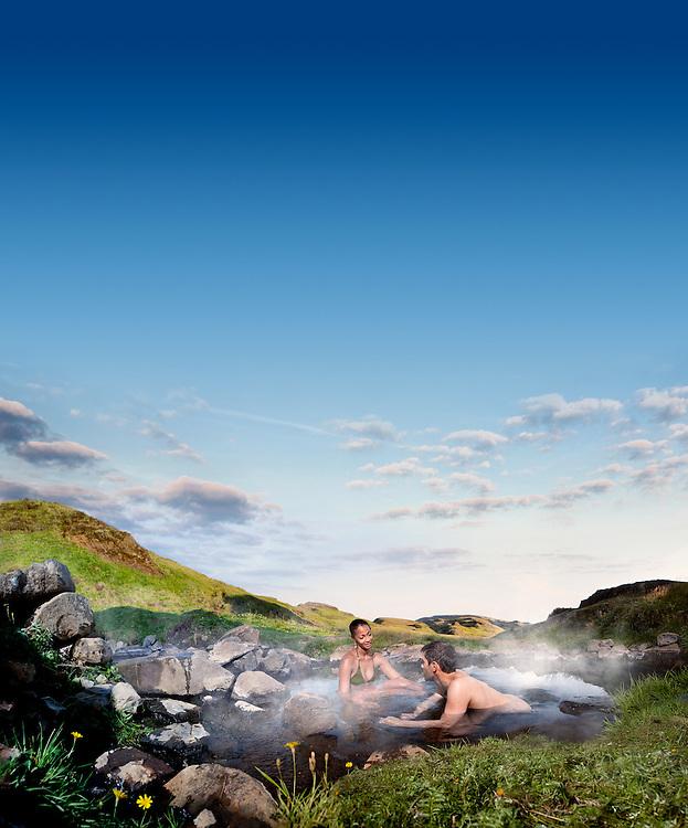 Natural hot bath