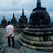 Borobudur temple.Java.Indonesia.