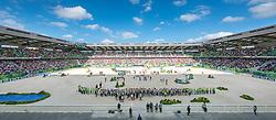 Podium team test eventing 1. GER, 2. GBR, 3. NED - Alltech FEI World Equestrian Games™ 2014 - Normandy, France.<br /> © Hippo Foto Team - Jon Stroud<br /> 31-08-14