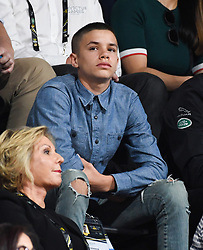 Romeo Beckham attend the Wheelchair Basket Finals, Quay Centre, Olympic Park, Sydney. Photo credit should read: Doug Peters/EMPICS
