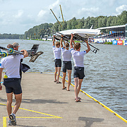NZL LM4-  (b) James HUNTER (2) Peter TAYLOR (3) Alistair BOND (s) Curtis RAPLEY – 2nd place 5:48.76 SUN 31 AUG 2014<br /> <br /> Crews racing the World Championships on The Bosbaan, Amsterdam, The Netherlands, 29/30/31 August 2014  Copyright photo © Steve McArthur / @rowingcelebration www.rowingcelebration.com