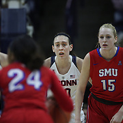 Breanna Stewart, UConn, in action during the UConn Vs SMU Women's College Basketball game at Gampel Pavilion, Storrs, Conn. 24th February 2016. Photo Tim Clayton