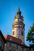 The castle tower is a landmark of Cesky Krumlov and a symbol of its artistic beauty. It was built in the 13th century and rebuilt in the Renaissance style around 1580 by Balthasar Maggi d'Arogno