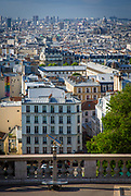 View of Paris from the Butte of Montmartre near Sacre-Coeur