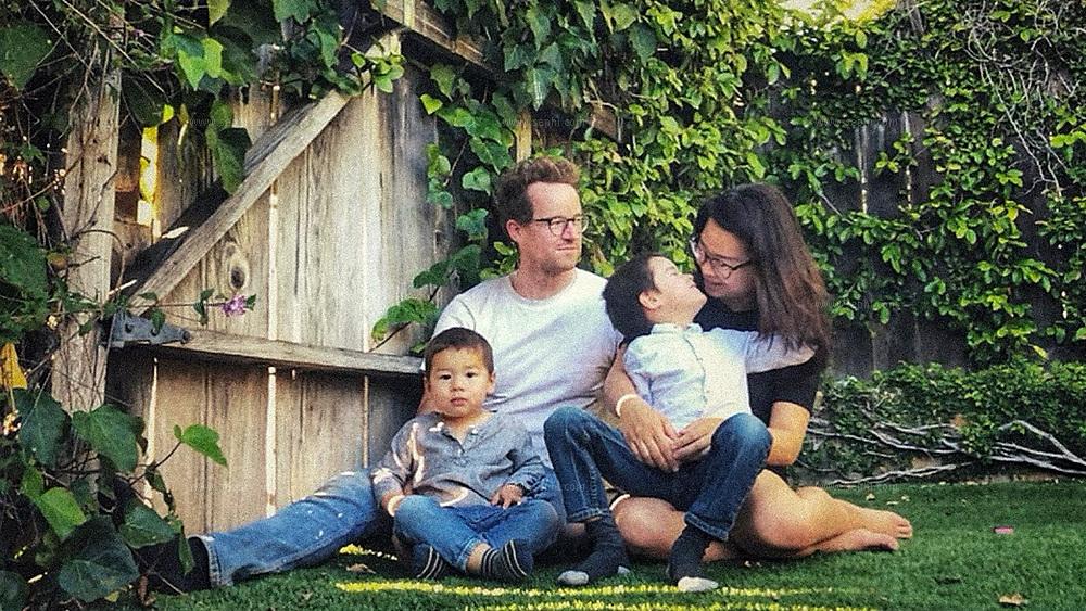 Jen Huang Bogan & Elihu Bogan with their kids Elihu jr. and Everest. Santa Barbara, California.