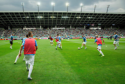 Players of Slovenia at warming up prior to the EURO 2016 Qualifier Group E match between Slovenia and England at SRC Stozice on June 14, 2015 in Ljubljana, Slovenia. Photo by Vid Ponikvar / Sportida