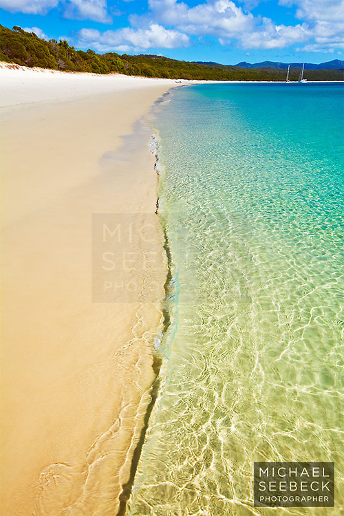Beautiful Whitehaven Beach in the Whitsundays.<br /> <br /> Limited Edition Print