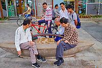Chine, Province de Guangdong, Shenzhen, joueur de Mahjong // China, Guangdong province, Shenzhen, Mahjong player on the street