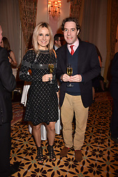 Matthew Steeples and Roksana Ciurysek-Gedir at a reception to celebrate the publication on 'Mother Anguish' by Basia Briggs held in The Music Room, The Ritz Hotel, 150 Piccadilly, London, England. 04 December 2017.