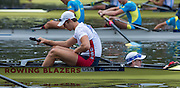 Amsterdam. NETHERLANDS.  USA M2+. Bow Taylor BROWN, Henry HOFFSTOT and John {jack} CARLSON  2014 FISA  World Rowing. Championships.  De Bosbaan Rowing Course . 14:10:18  Monday  DATE}  [Mandatory Credit; Peter Spurrier/Intersport-images]