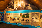 Interpretive display at the Royal Albatross Center on the Otago Peninsula, Dunedin, Otago, South Island, New Zealand